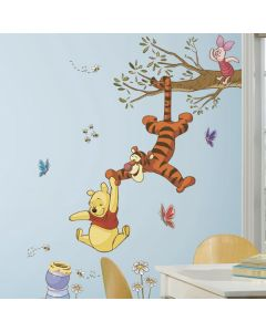 Winnie The Pooh Swinging For Honey Giant Wall Stickers