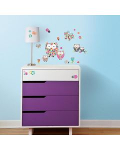 Prisma Owls & Butterflies Wall Stickers