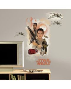 Star Wars Episode VII - Finn & Rey Wall Stickers