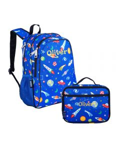 Space Kids Backpack with Lunch Bag