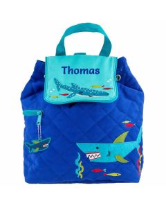 Personalised Toddler Backpack - Blue Shark