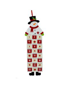 Red & White Snowman Felt Advent Calendar