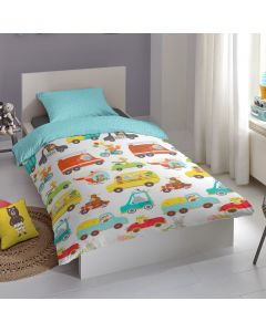 Transport Duvet Cover 100% Cotton Kids