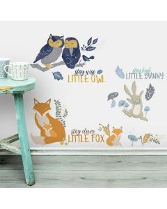 Colourful Jungle Animals Wall Stickers
