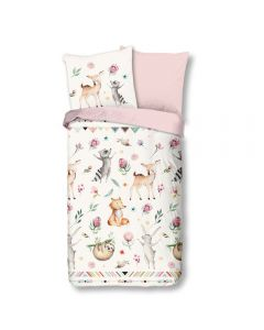 100% Cotton Kids Duvet Cover - Woodland Animals