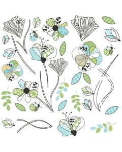 Pattern Flowers Wall Stickers